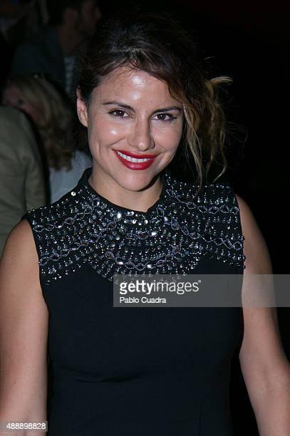 Monica Hoyos is seen attending the MercedesBenz Fashion Week Madrid Spring/Summer 2016 at Ifema on September 18 2015 in Madrid Spain