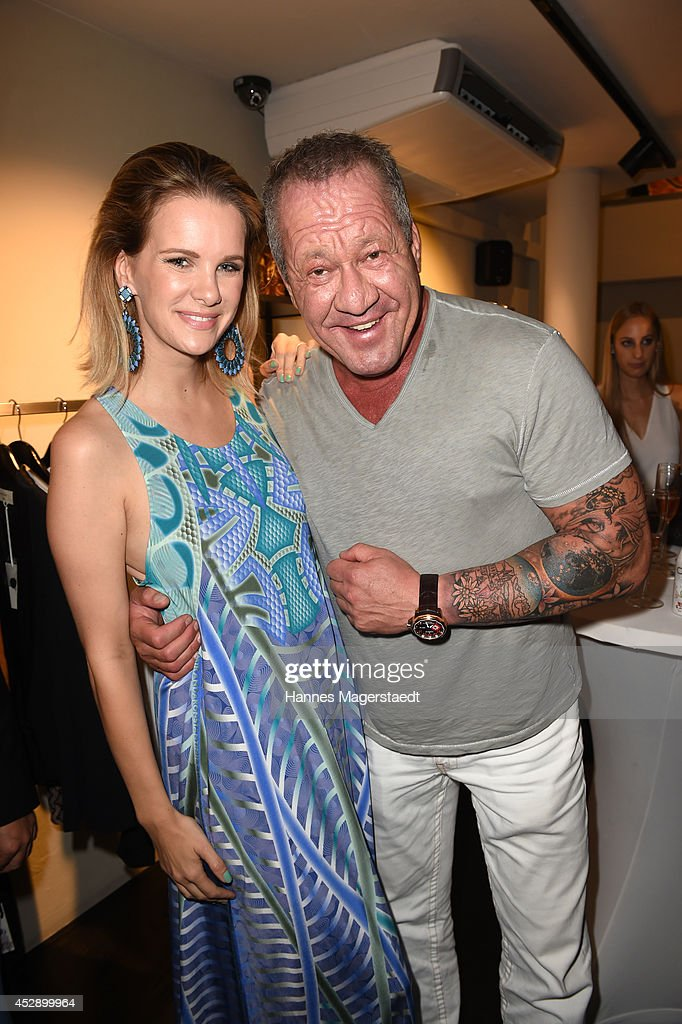 <a gi-track='captionPersonalityLinkClicked' href=/galleries/search?phrase=Monica+Ivancan&family=editorial&specificpeople=3949859 ng-click='$event.stopPropagation()'>Monica Ivancan</a> and Hugo Bachmaier attend the Marcus Heinzelmann Boutique Opening on July 29, 2014 in Munich, Germany.
