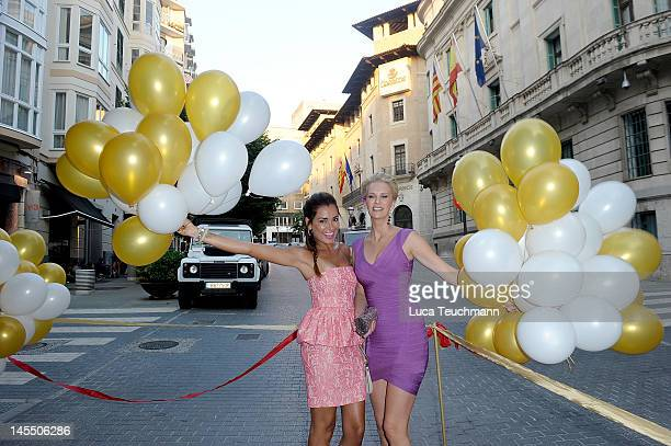 Monica Ivancan and Jana Ina attend the Opening ID REBORN SPAs on May 31 2012 in Palma de Mallorca Spain
