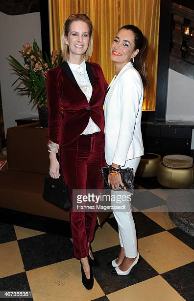 Monica Ivancan and Jana Ina Zarrella attend the Ernsting's Family Fashion Dinner at Rilano No 6 on February 6 2014 in Munich Germany