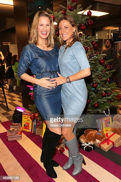 Monica Ivancan and Simone Ballack during the World Childhood Foundation Baking at Hotel Vier Jahreszeiten on November 30 2015 in Munich Germany