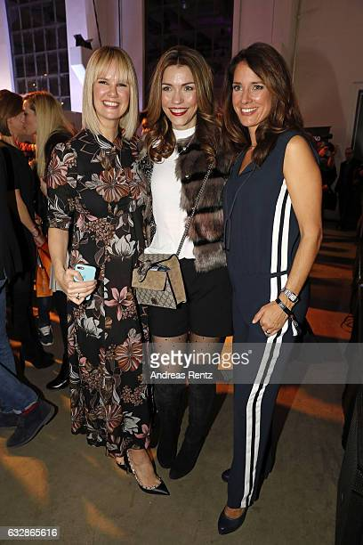 Monica Ivancan Annette Moeller and Elena Bruhn attend the Breuninger after party during Platform Fashion January 2017 at Areal Boehler on January 27...