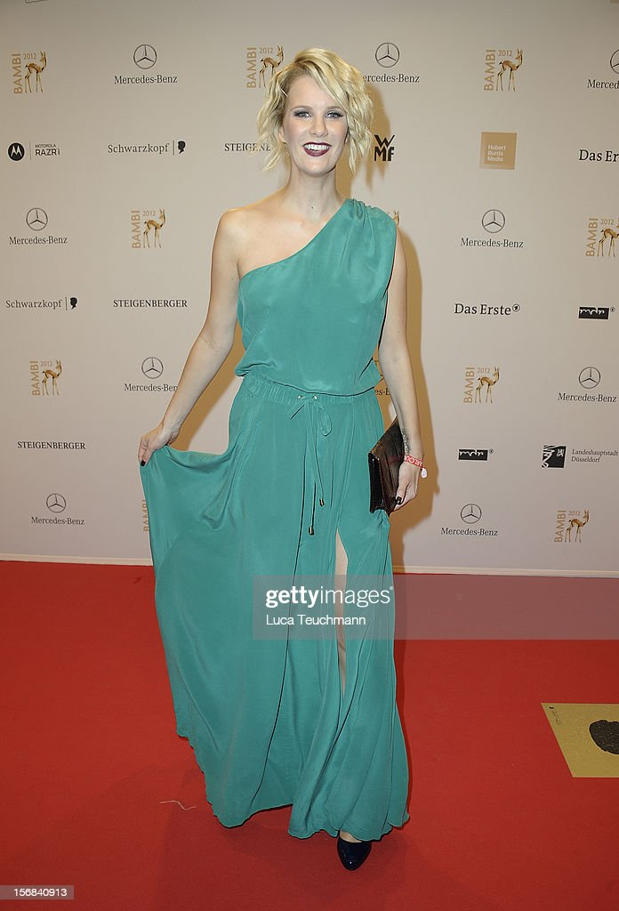 Monica Ivancan attends 'BAMBI Awards 2012' at the Stadthalle Duesseldorf on November 22, 2012 in Duesseldorf, Germany.