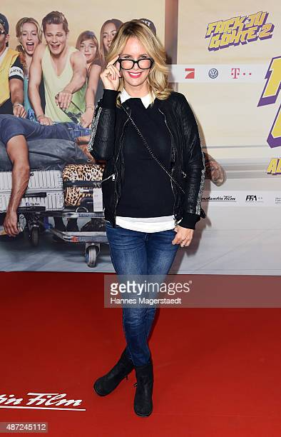 Monica Ivancan attends the 'Fack ju Goehte 2' Munich Premiere at Mathaeser Filmpalast on September 7 2015 in Munich Germany