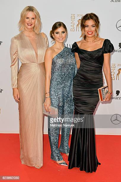 Monica Ivancan Cathy Hummels and Jana Ina Zarrella arrive at the Bambi Awards 2016 at Stage Theater on November 17 2016 in Berlin Germany