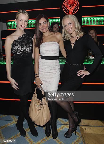 Monica Ivancan Jana Ina and Isabel Edvardsson attend the 'Movie meets Media' Night at Hotel Atlantic on December 3 2010 in Hamburg Germany