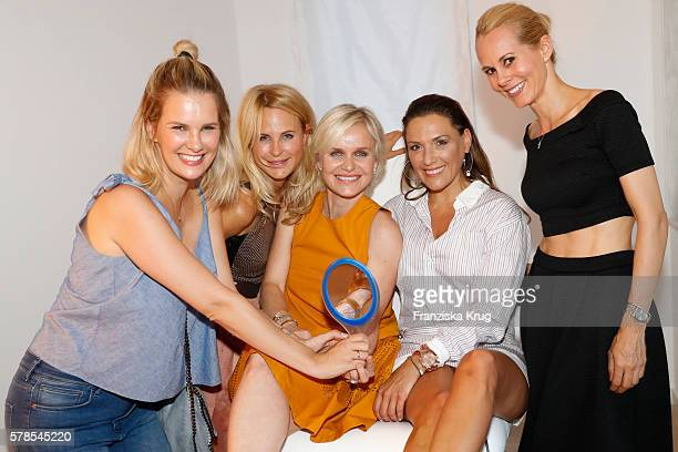 Monica Ivancan Sonja Kiefer Barbara Sturm Simone Ballack and Nadja zu SchaumburgLippe attend the 'Dr Barbara Sturm NetAPorter' Dinner Party on July...