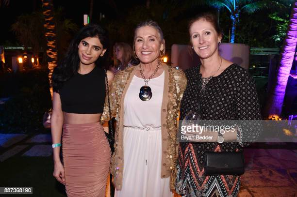 Monica Kapoor Susan Magrino and Lisa Herman attend DuJour's Jason Binn And WellNEST Celebrate Miami Beach's Art Basel KickOff at The Confidante on...