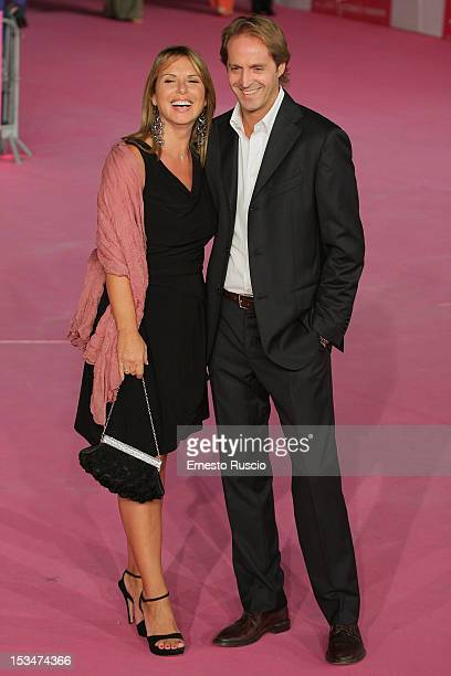 Monica Leofreddi and Guest attend the closing ceremony photocall during the RomaFictionFest 2012 at Auditorium Parco Della Musica on October 5 2012...