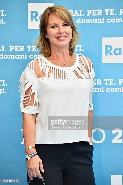 Monica Leofreddi attends Rai Show Schedule Presentation In Milan on June 28 2016 in Milan Italy