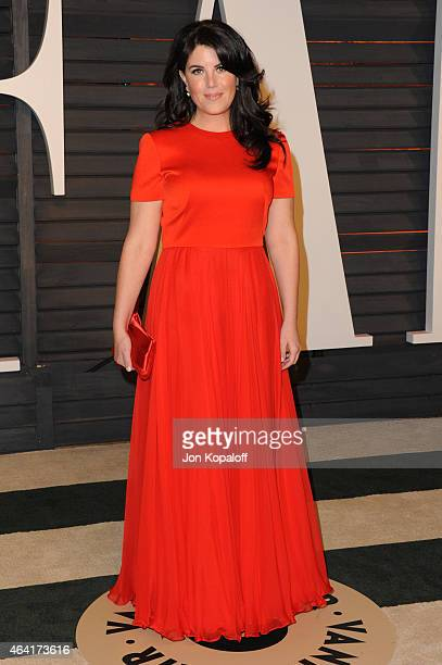 Monica Lewinski attends the 2015 Vanity Fair Oscar Party hosted by Graydon Carter at Wallis Annenberg Center for the Performing Arts on February 22...