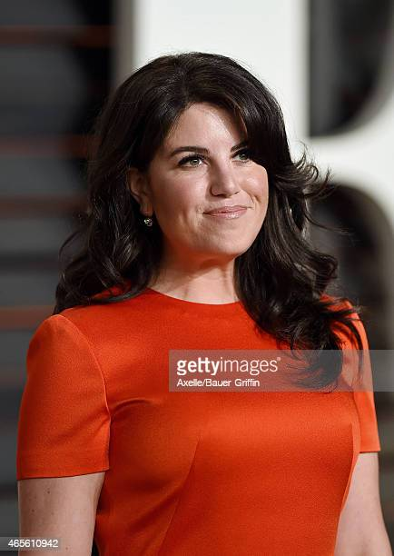 Monica Lewinsky arrives at the 2015 Vanity Fair Oscar Party Hosted By Graydon Carter at Wallis Annenberg Center for the Performing Arts on February...