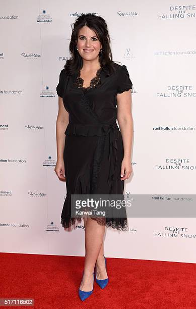 Monica Lewinsky arrives for the gala screening of 'Despite The Falling Snow' on March 23 2016 in London United Kingdom