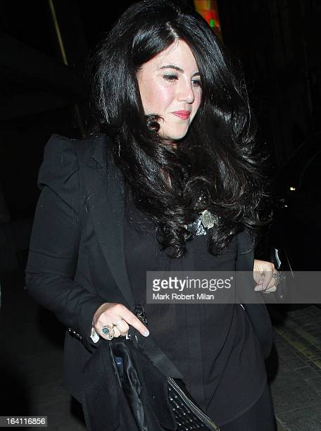 Monica Lewinsky at the Downtown Mayfair restaurant for Heather Kerzner's birthday celebration on March 19 2013 in London England