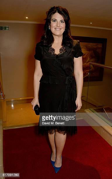 Monica Lewinsky attends a special Charity Premiere of 'Despite The Falling Snow' in aid of the Nelson Mandela Children's Fund at The May Fair Hotel...