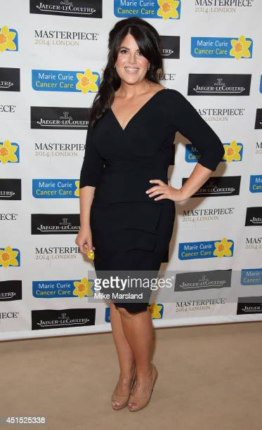 Monica Lewinsky attends the Masterpiece Marie Curie Summer party in partnership with Jaeger LeCoultre and Heather Kerzner at The Royal Hospital...