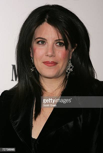 Monica Lewinsky attends the Men's Health and Best Life magazines book release party for 'BLUNT' by photographer Nigel Parry at Milk Gallery on...