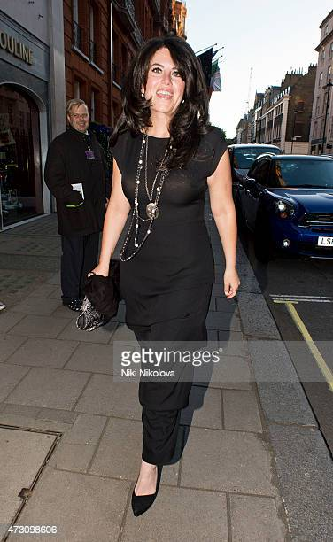 Monica Lewinsky is seen arriving at Claridge's hotel Mayfair on May 12 2015 in London England