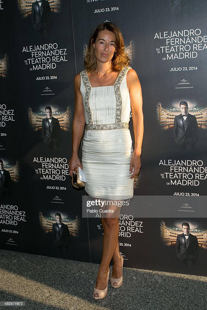 Monica Martin Luque attends Alejandro Fernandez concert at 'Teatro Real' on July 23 2014 in Madrid Spain