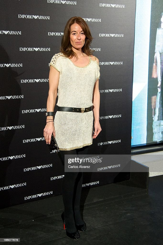 Monica Martin Luque attends the Emporio Armani Boutique opening on April 8, 2013 in Madrid, Spain.