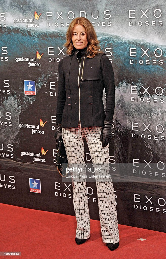 Monica Martin Luque attends the premiere of 'Exodus Gods And Kings' at Kinepolis cinema on December 4 2014 in Madrid Spain