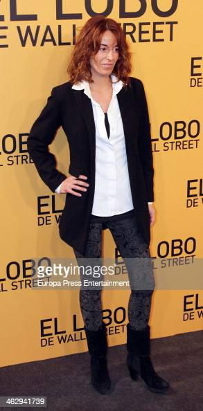 Monica Martin Luque attends the premiere of 'The Wolf of Wall Street' on January 15 2014 in Madrid Spain
