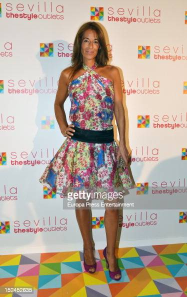Monica Martin Luque attends 'The Style Outlets' shops opening on September 20 2012 in Seville Spain