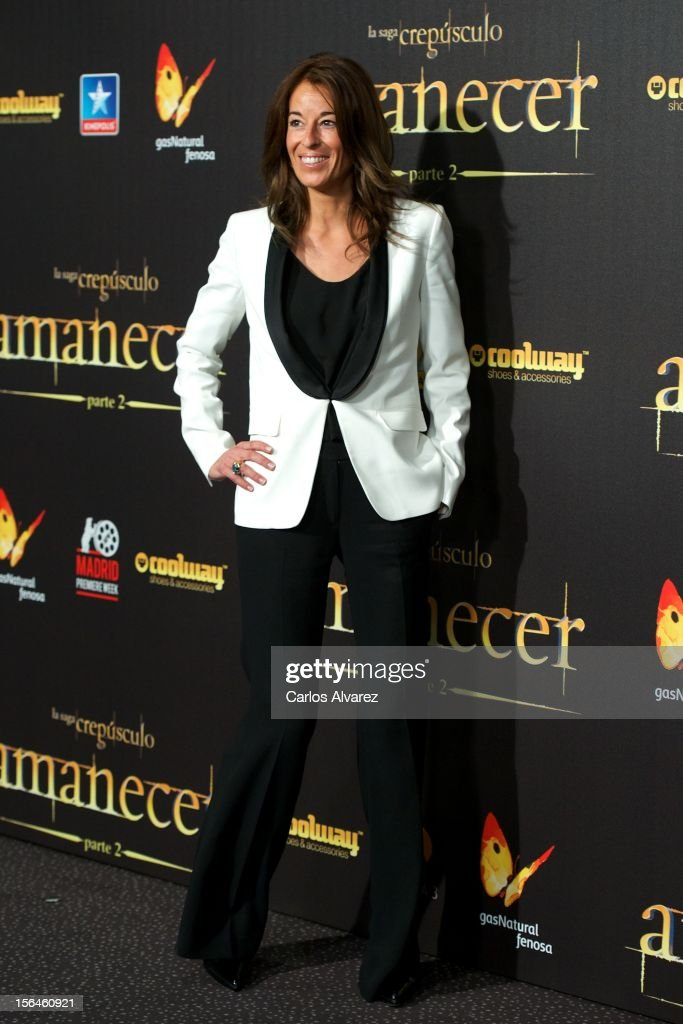 Monica Martin Luque attends the 'The Twilight Saga: Breaking Dawn - Part 2' (La Saga Crepusculo: Amanecer Parte 2) premiere at the Kinepolis cinema on November 15, 2012 in Madrid, Spain.
