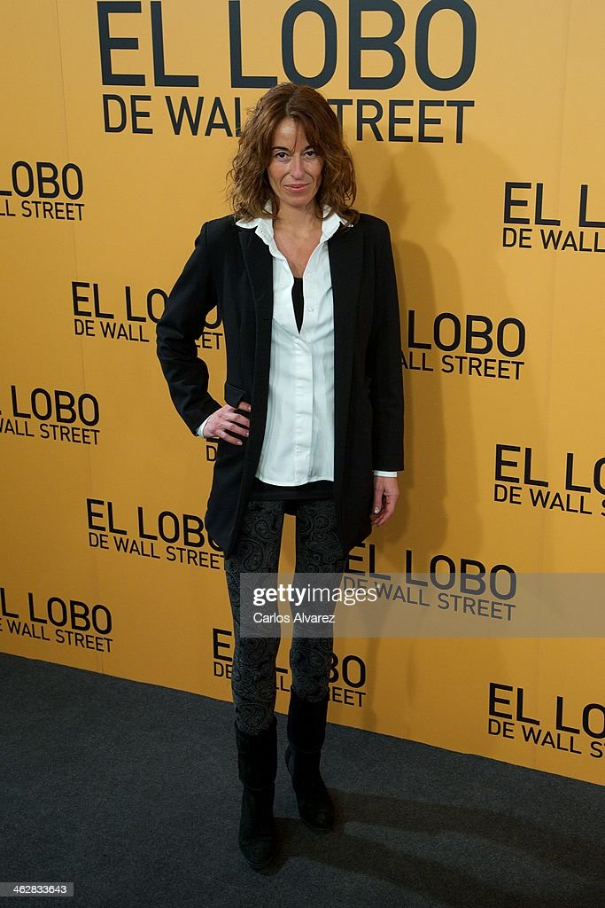 Monica Martin Luque attends the 'The Wolf of Wall Street' premiere at the Palafox cinema on January 15 2014 in Madrid Spain