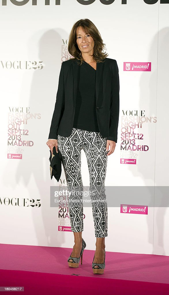 Monica Martin Luque attends Vogue Fashion Night Out Madrid 2013 on September 12 2013 in Madrid Spain