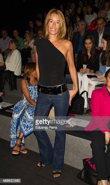 Monica Martin Luque is seen attending MercedesBenz Fashion Week Madrid Spring/Summer 2015/16 at Ifema on September 18 2015 in Madrid Spain
