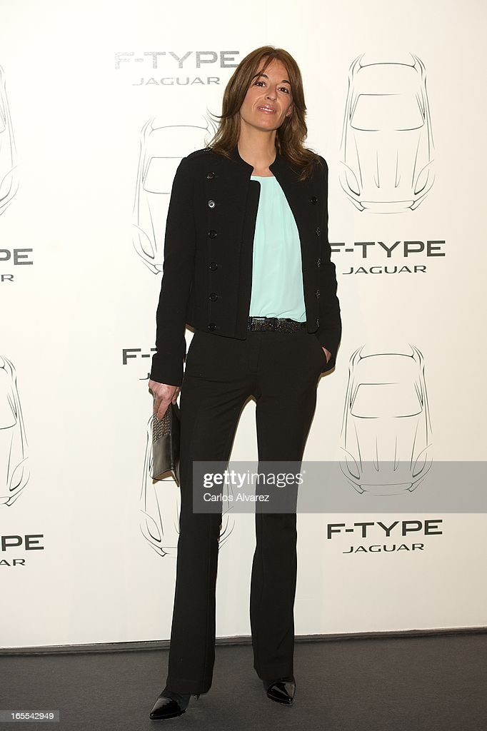 Monica Martin Luque presents the new Jaguar F-Type at the Museo del Traje on April 4, 2013 in Madrid, Spain.