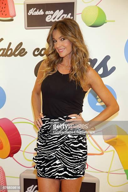 Monica Martinez attends 'Hable Con Ellas' Tv show presentation at Telecinco on July 15 2016 in Madrid Spain