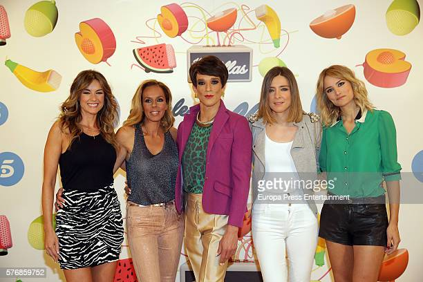 Monica Martinez Rocio Carrasco Soledad Leon de Salazar Sandra Barneda and Alba Carrillo attend 'Hable Con Ellas' Tv show presentation at Telecinco on...
