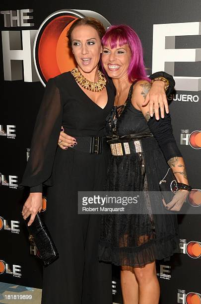 Monica Naranjo and Chiqui Marti attend a photocall for 'The Hole' theater production at the Theater Coliseum on September 25 2013 in Barcelona Spain