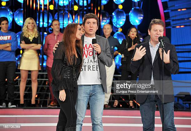 Monica Naranjo and Manel Fuentes attend the presentation of the 3rd season of 'Tu Cara Me Suena' at Antena 3 Studios on October 23 2013 in Barcelona...