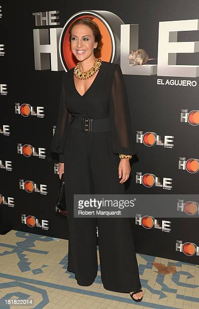 Monica Naranjo attends a photocall for 'The Hole' theater production at the Theater Coliseum on September 25 2013 in Barcelona Spain