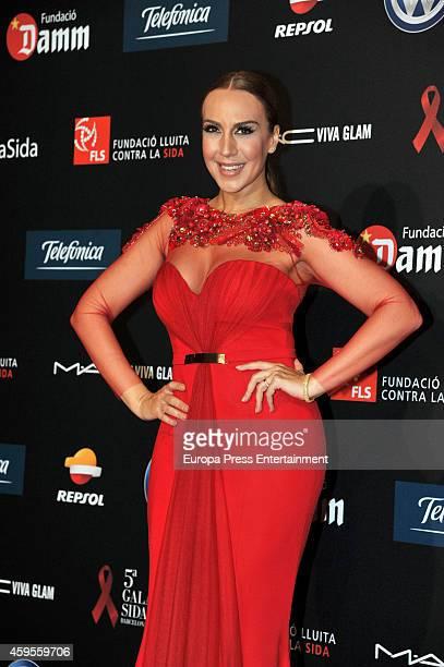 Monica Naranjo attends 'Fifth Gala Against HIV 2014' on November 24 2014 in Barcelona Spain