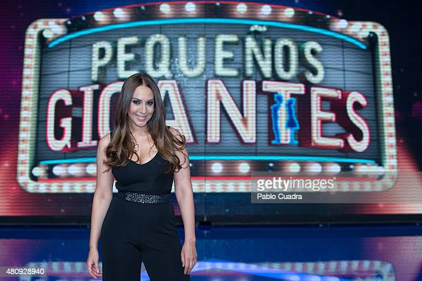 Monica Naranjo attends the 'Pequenos Gigantes' presentation at Picasso Studios on July 16 2015 in Villaviciosa Spain