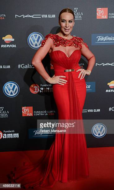 Monica Naranjo poses during a photocall for 'Gala Against HIV 2014' at the Museu Nacional d'Art de Catalunya on November 24 2014 in Barcelona Spain