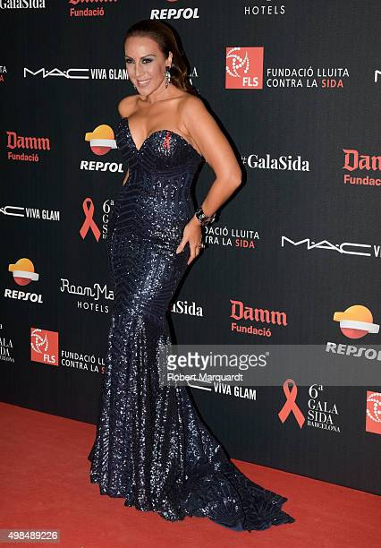 Monica Naranjo poses during a photocall for the '6th Gala Against Aids' held at the Museu Nacional d'Art de Catalunya on November 23 2015 in...