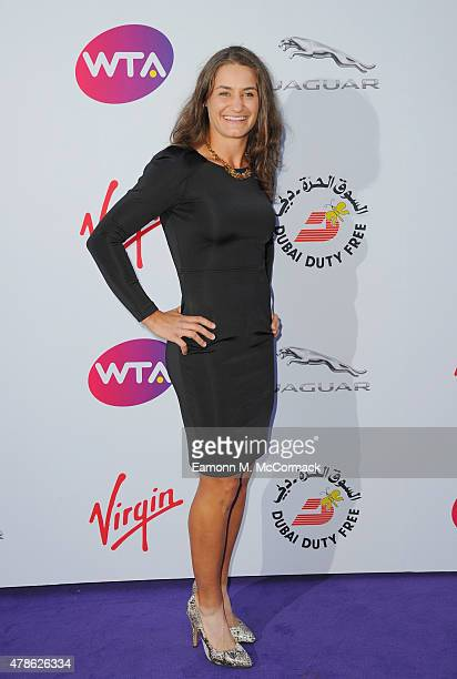 Monica Niculescu attends the annual WTA PreWimbledon Party presented by Dubai Duty Free at The Roof Gardens Kensington on June 25 2015 in London...