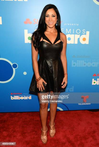 Monica Noguera attends 2014 Billboard Latin Music Awards Press Conference to announce nominations at Gibson Miami Showroom on February 5 2014 in...