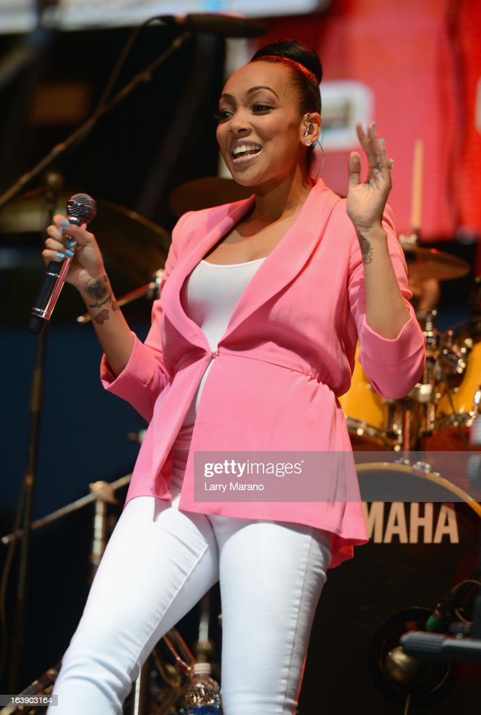 Monica performs at the 8th Annual Jazz in the Gardens Day 2 at Sun Life Stadium presented by the City of Miami Gardens on March 17, 2013 in Miami Gardens, Florida.