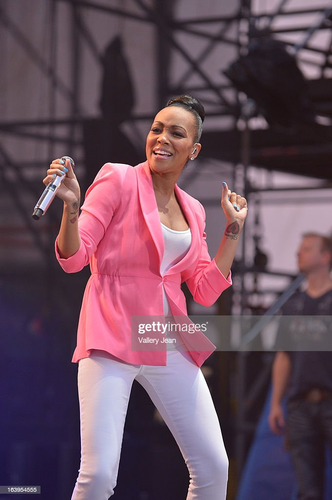 Monica performs at the 8th Annual Jazz In The Gardens Music Festival - Day 2 at Sun Life Stadium on March 17, 2013 in Miami Gardens, Florida.