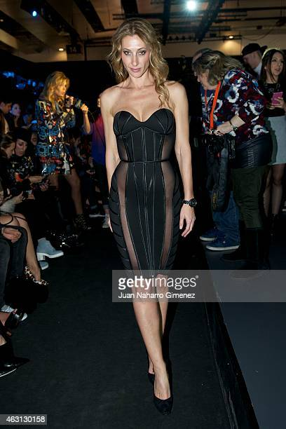 Monica Pons is seen attending the catwalks during Madrid Fashion Week Fall/Winter 2015/16 at Ifema on February 10 2015 in Madrid Spain