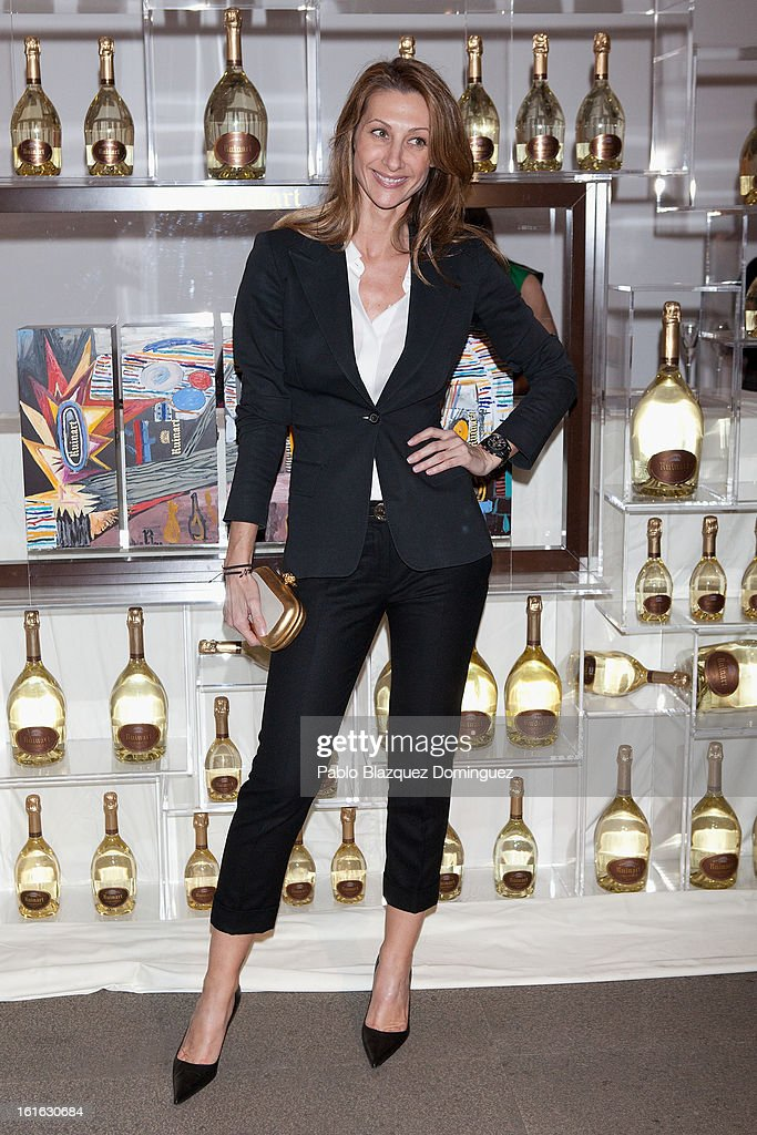 Monica Pont attends 'Ruinart' Party at Marlborough Gallery on February 13, 2013 in Madrid, Spain.