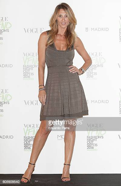 Monica Pont attends the 'Vogue fashion night out' photocall at Ortega y Gasset street on September 15 2016 in Madrid Spain