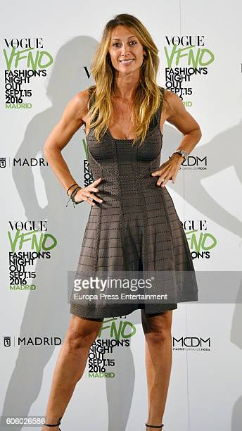 Monica Pont attends Vogue Fashion Night Out Madrid 2016 photocall on September 15 2016 in Madrid Spain
