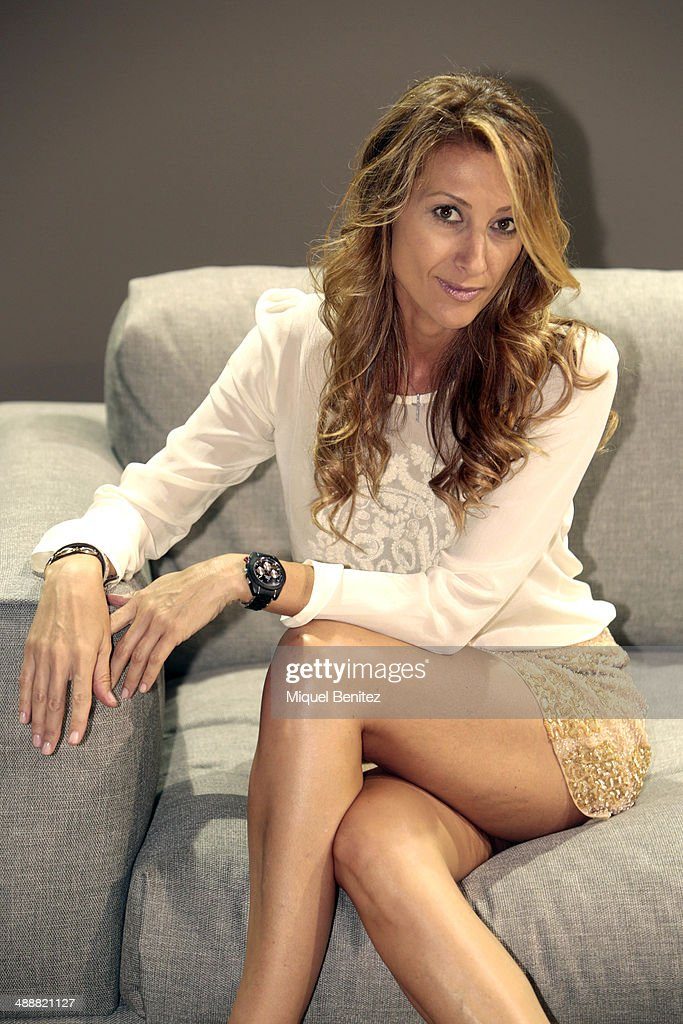 Monica Pont poses for the photographer during the 'Barcelona Bridal Week 2014' on May 8, 2014 in Barcelona, Spain.